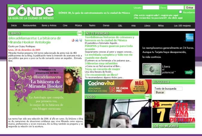 Reporte prensa MH 2009 2